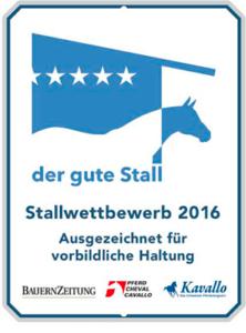 Auszeichnung Pensionsstall Mettlenhof
